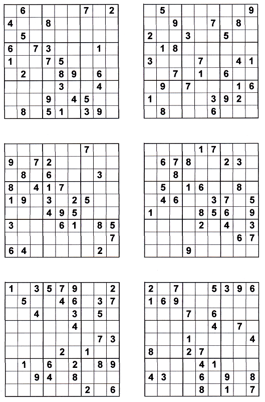 This is a photo of Adorable Printable Sudoku 6 Per Page